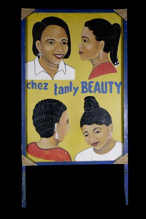 ChezTantyBeauty_2_sided_four_head_yellow_beauty_salon_sign_side_1_on_black