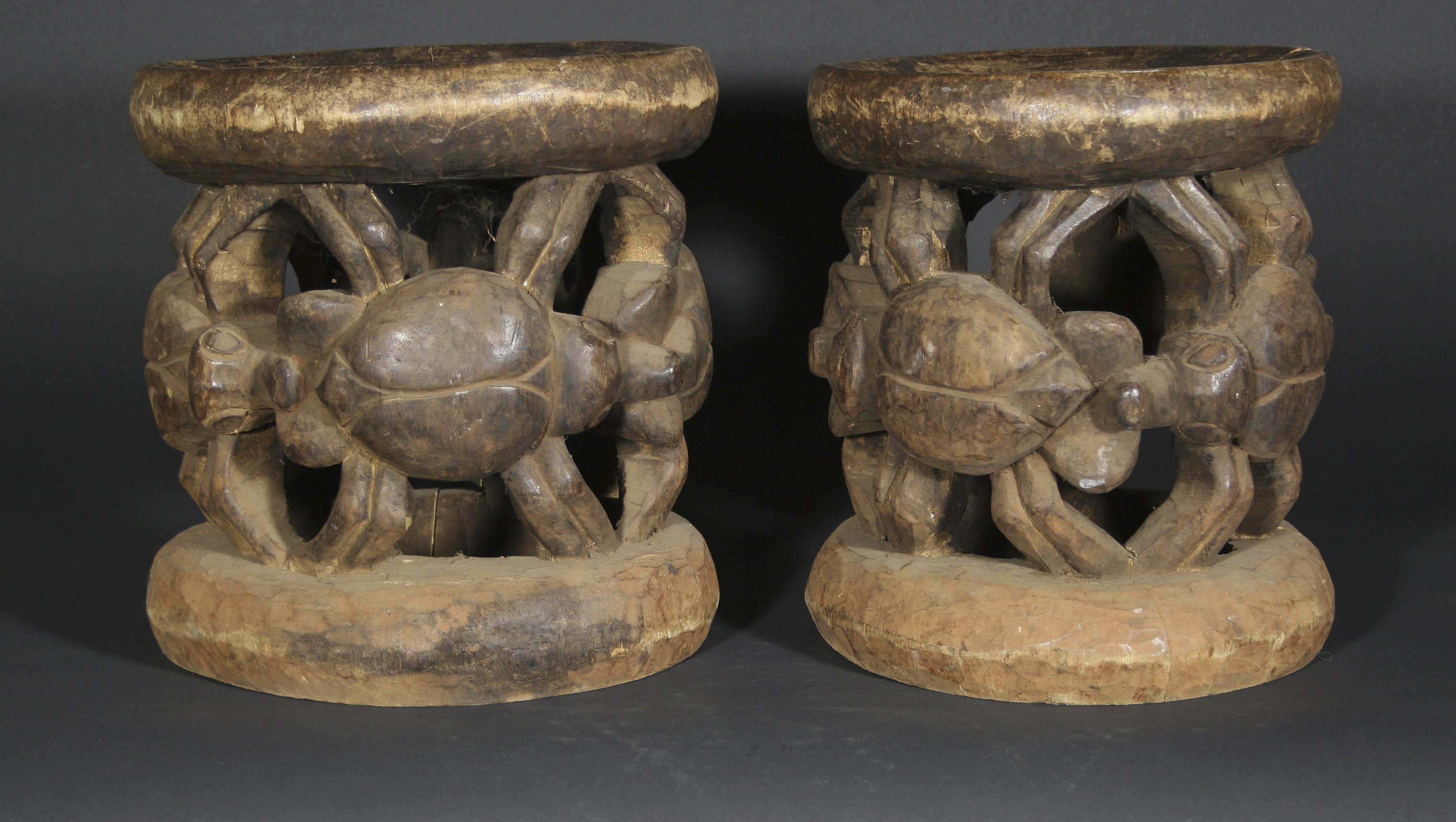 Bamileke pair 11 diam 11.5 tall (1)