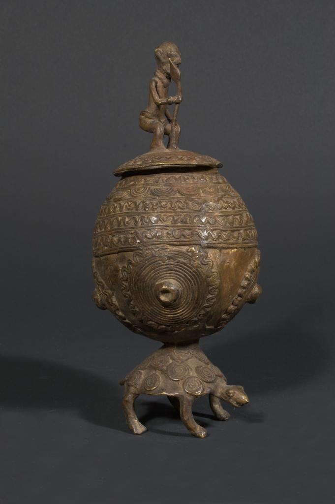Dogon Brass Turtle Container The Niger Bend African