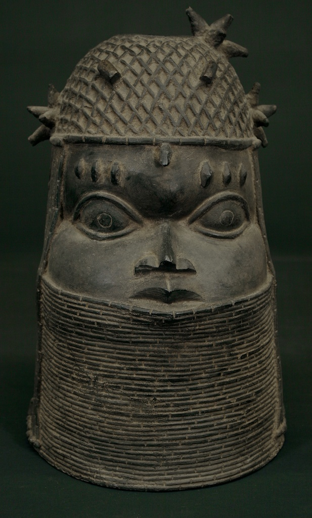 Cast Bronze Oba Head The Niger Bend African Art