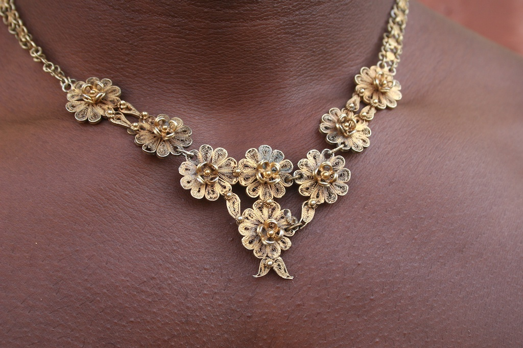Ashanti gold floral design necklace | The Niger Bend | African Art ...