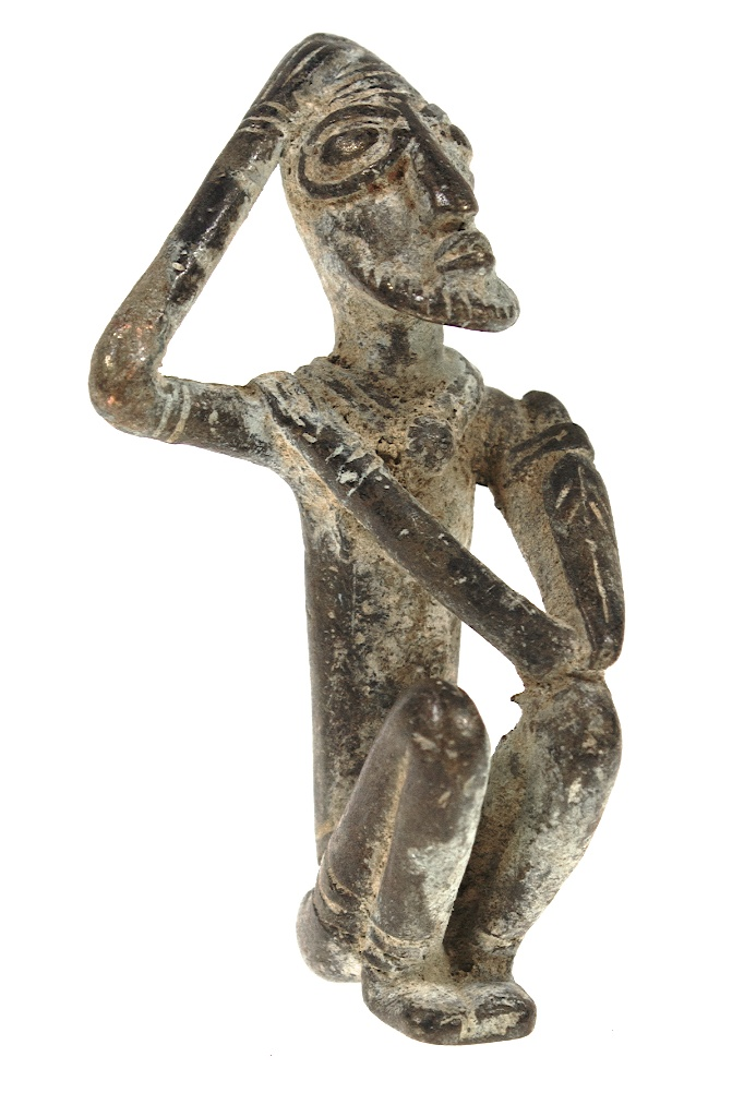 Small Dogon Brass Man Figure The Niger Bend African