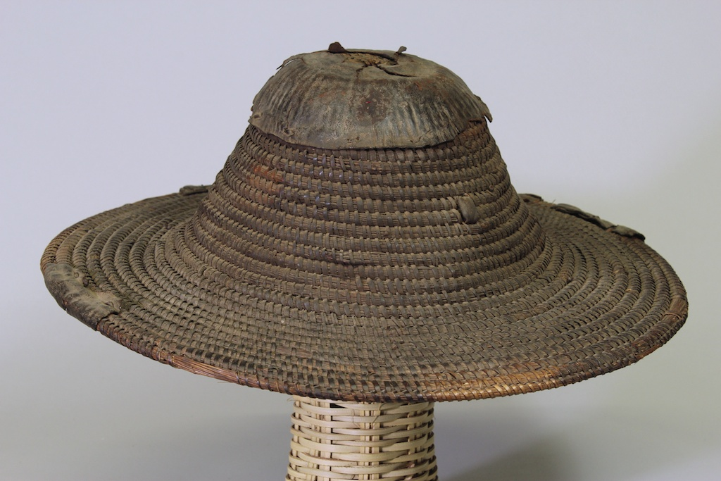 178 Old Burkina Faso coiled basket weave hat (1)