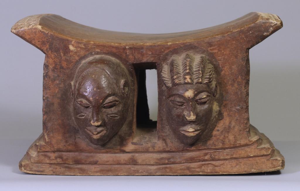 185 Old Baule 4-head stool