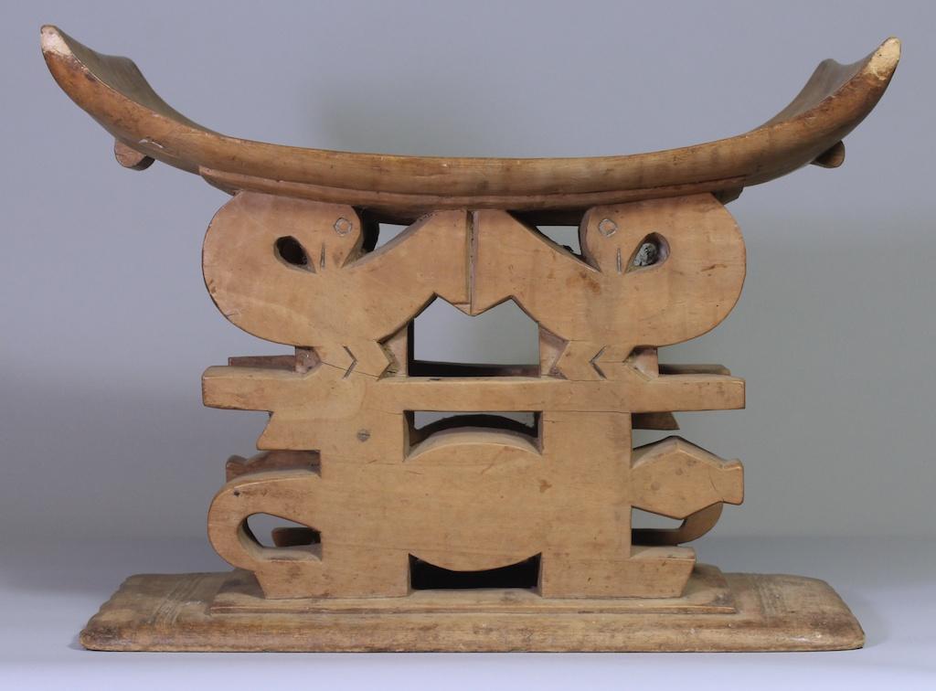 186 Crocodile Sankofa Bird Ashanti stool