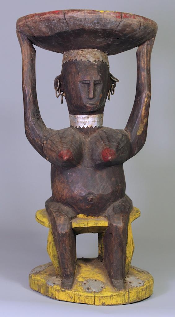 191 Bamana Woman Caryatid Stool