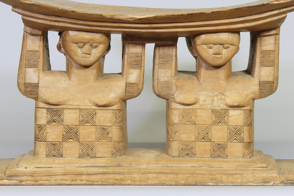 211 Old Large Twins Asante stool (5)