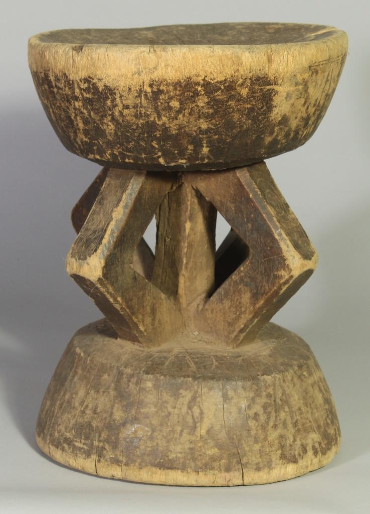 234 Old Gurmantche tall round stool
