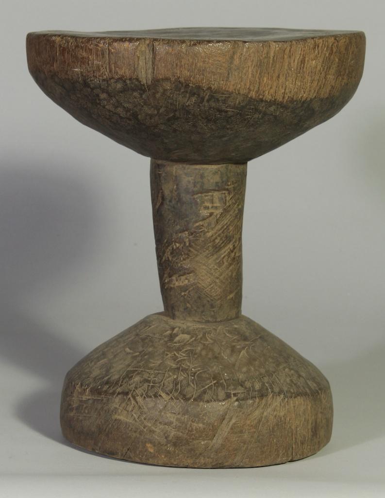 235 Old Gurmantche round stool (2)