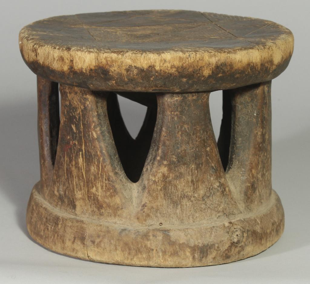 239 Old Gurmantche round stool