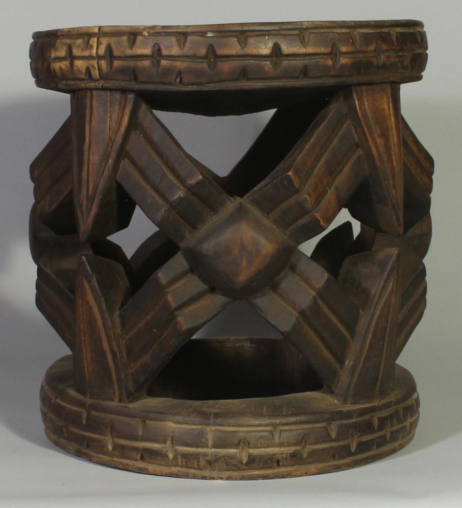 244 Large Bamileke Spider Web stool (3)