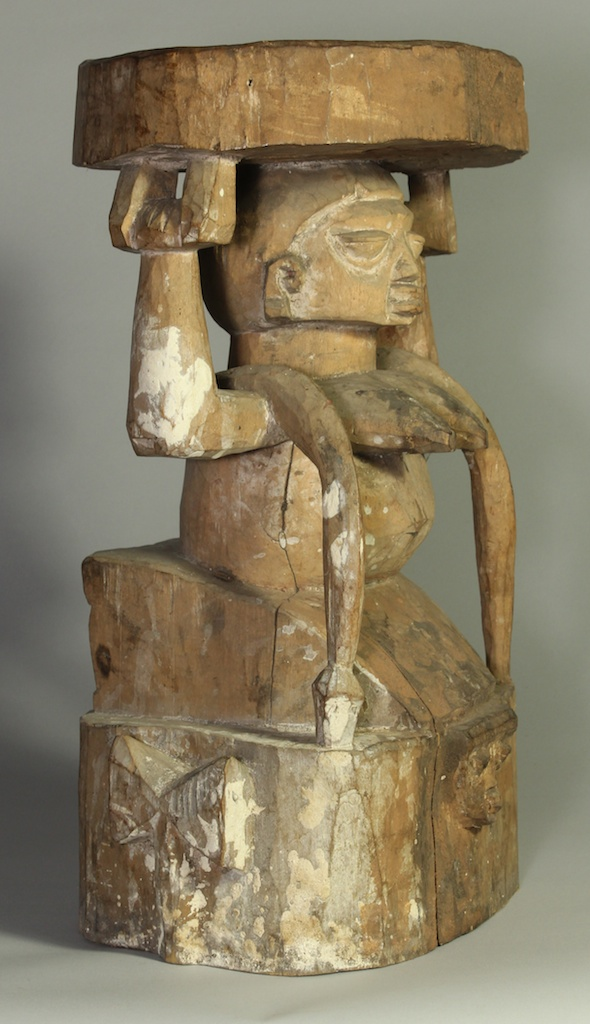 Old Woman Caryatid Stool The Niger Bend African Art