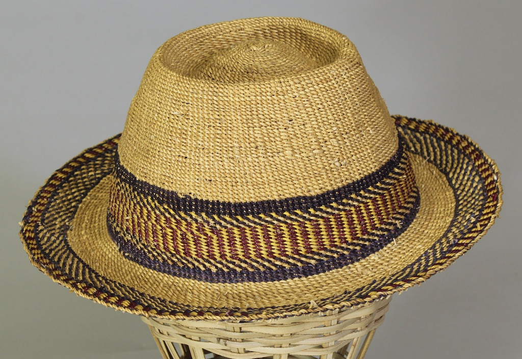 Narrow Brim Ghana Straw Hat The Niger Bend African Art