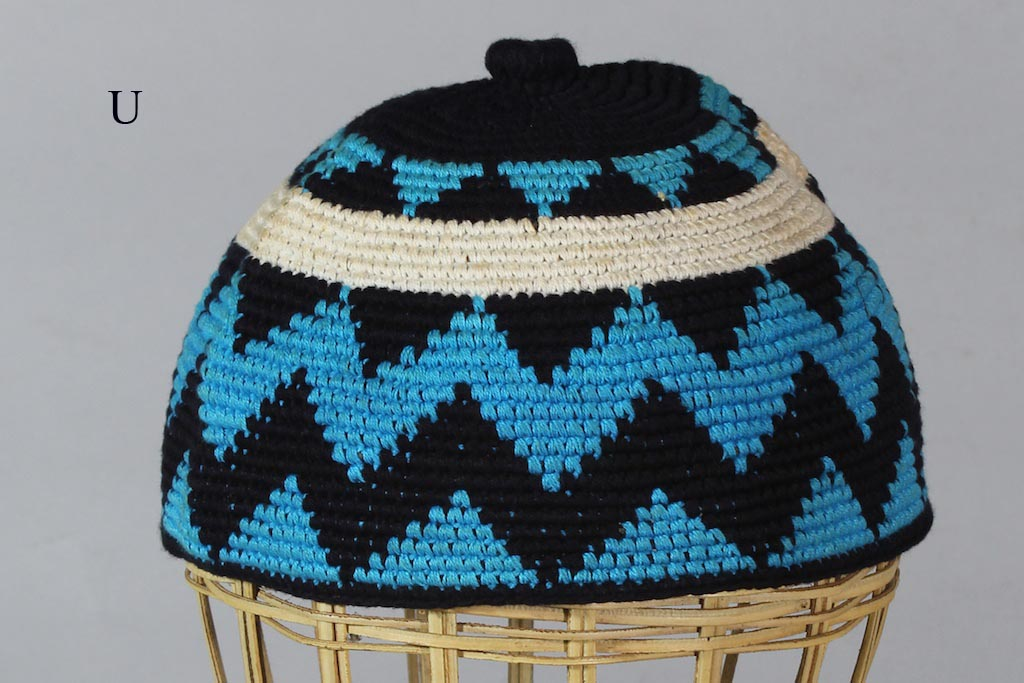 Multicolor Woven Kufi Close Fit Men S Cotton Hat Large