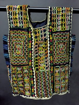 This is the female version of the exceptionally detailed extraordinarily embroidered tunic characteristic of the Wodaabe people of Niger.
